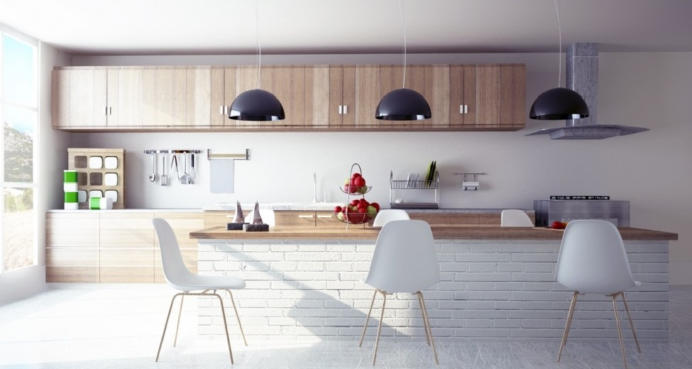 Cucina moderna in muratura