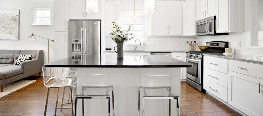 illuminazione cucina moderna